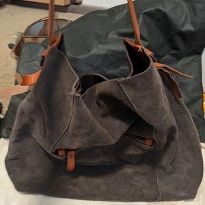 Sundance Suede and Leather Handbag